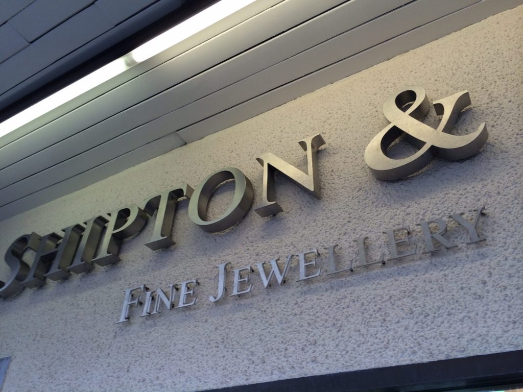 Sign Direct Leicester Signage Solutions Built Up Lettering Jewellery Signage Solutions