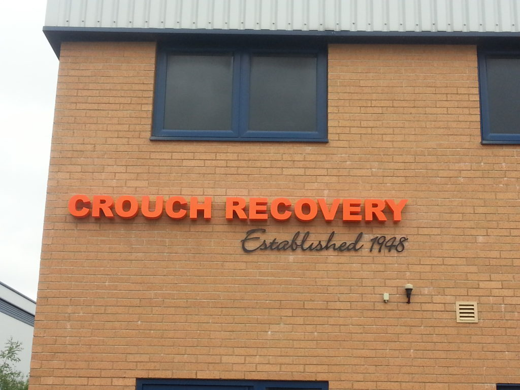 Sign Direct Leicester Signage Solutions Built Up Lettering Crouch Recovery