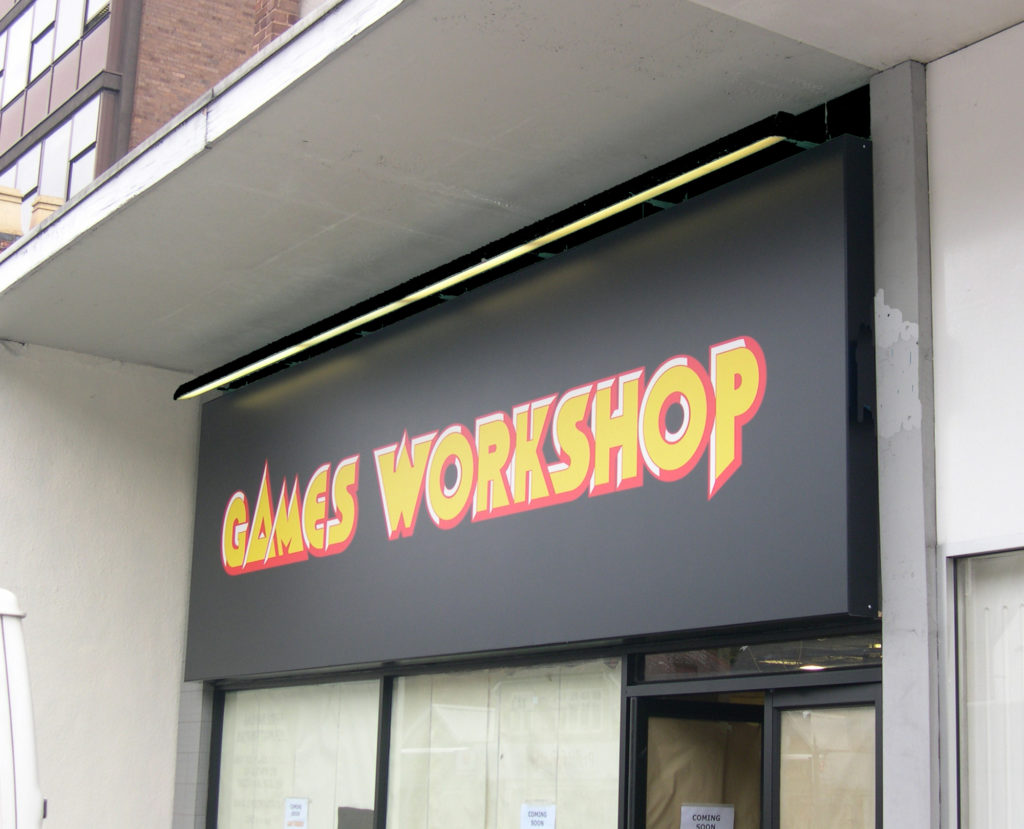 Sign Direct Leicester Signage Solutions Retail Shop Frontage Games Workshop