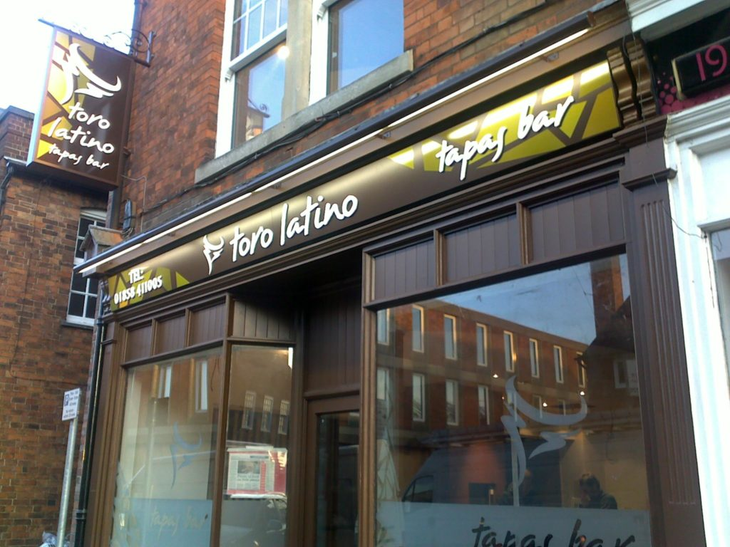 Sign Direct Leicester Signage Solutions Illuminated Sign Toro Latino