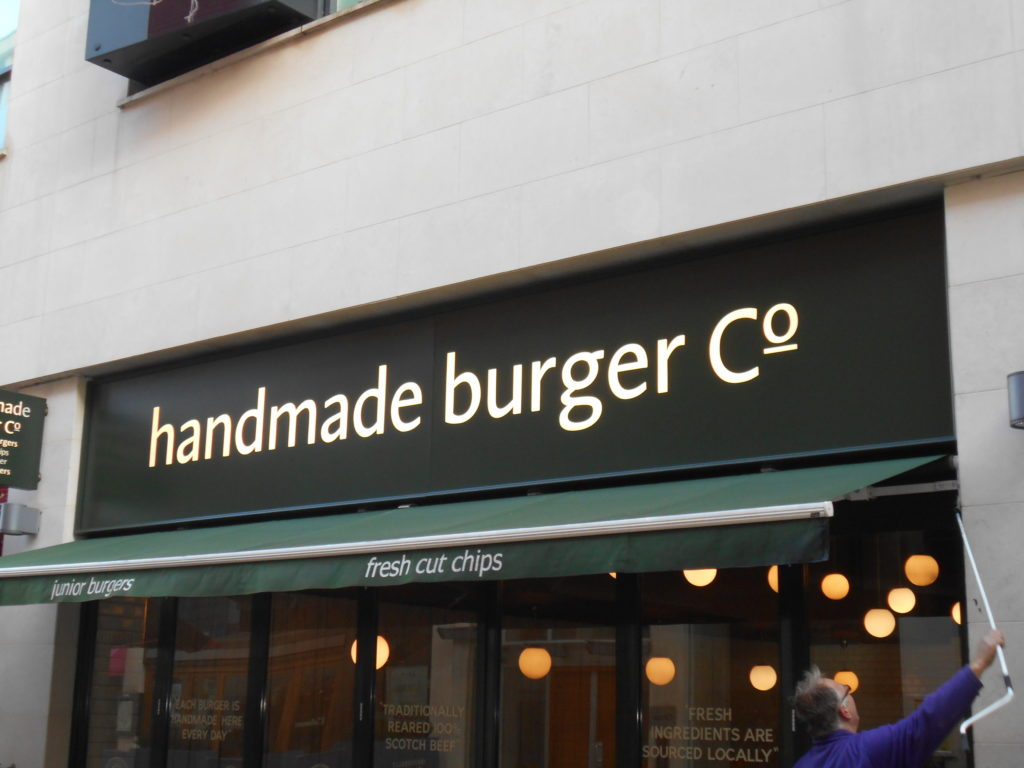 Sign Direct Leicester Signage Solutions Illuminated Sign Handmade Burger Co