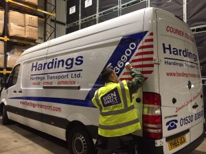 Sign Direct Hardings Van Vehicle Branding