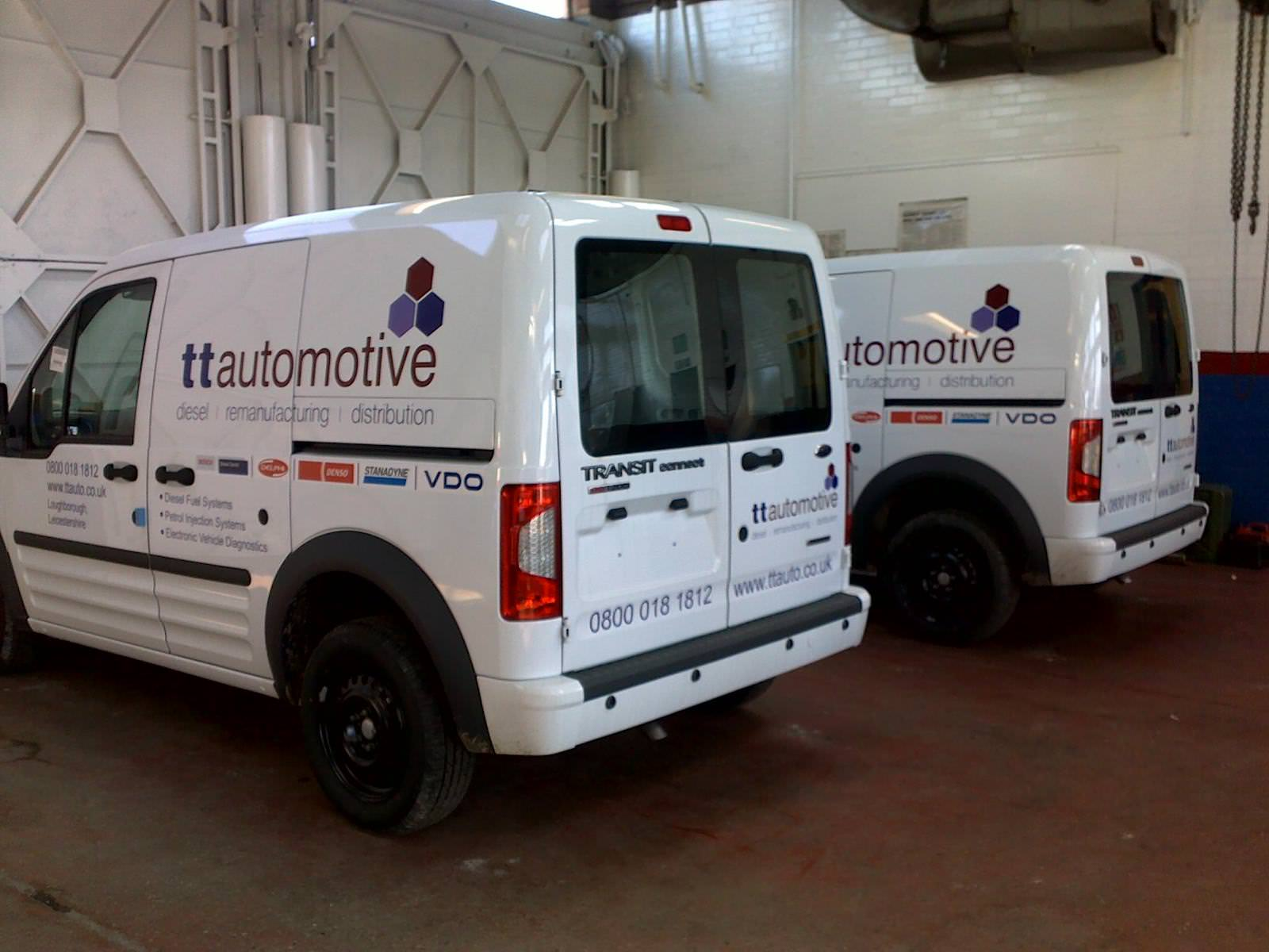Sign Direct Leicester Signage Solutions TT Automotive Fleet Commercial Vehicles