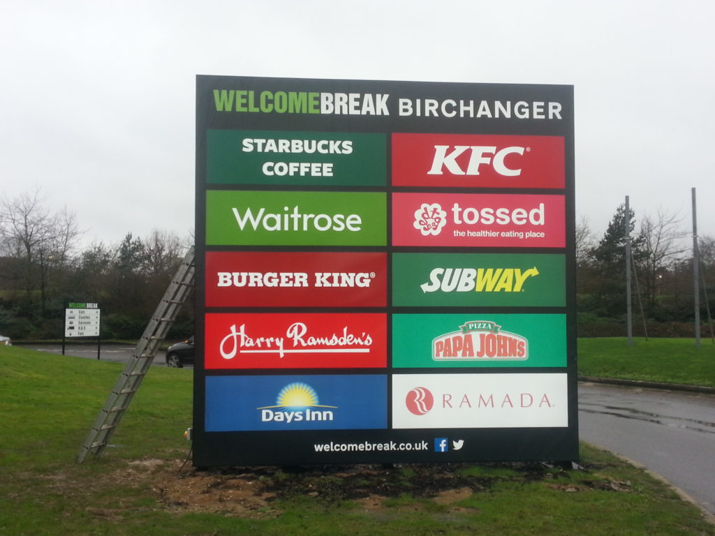 Sign Direct Leicester Signage Solutions Leisure Facilities Welcome Break