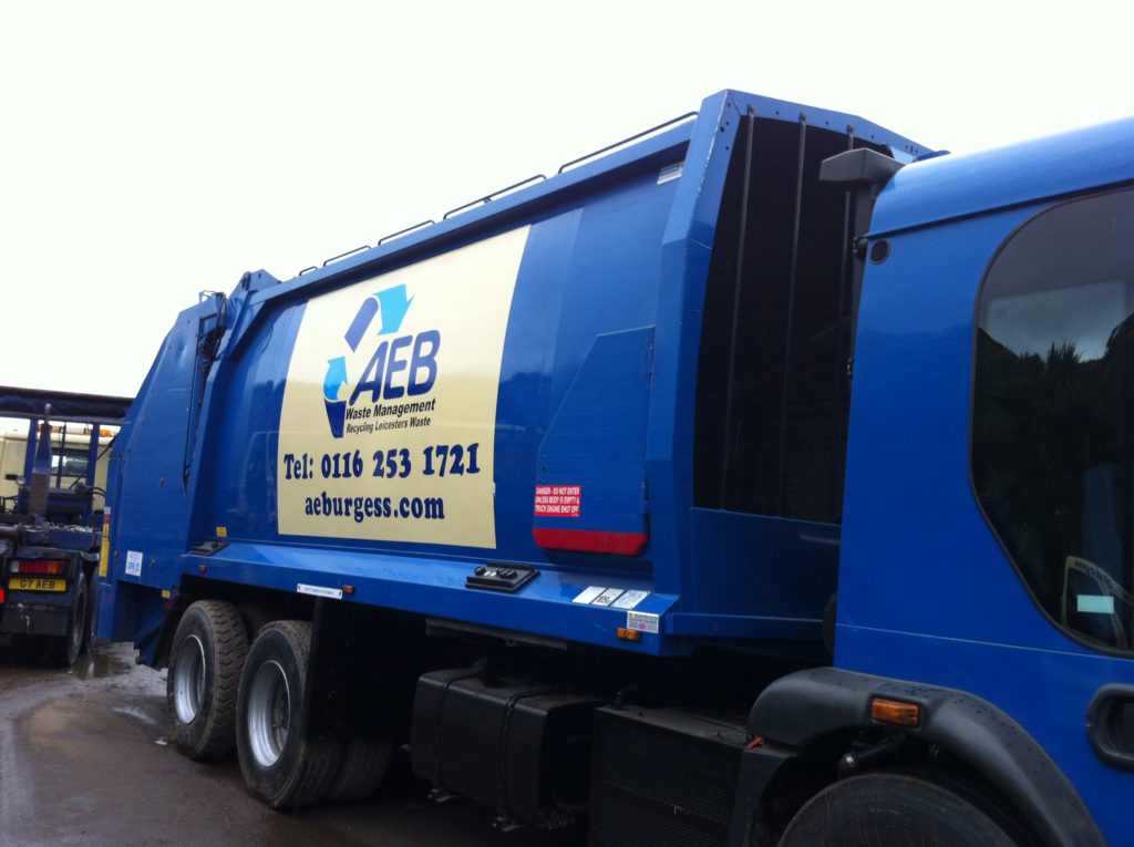 Sign Direct Leicester Signage Solutions Vehicle Wrap Fleet Vehicle AEB Waste Management