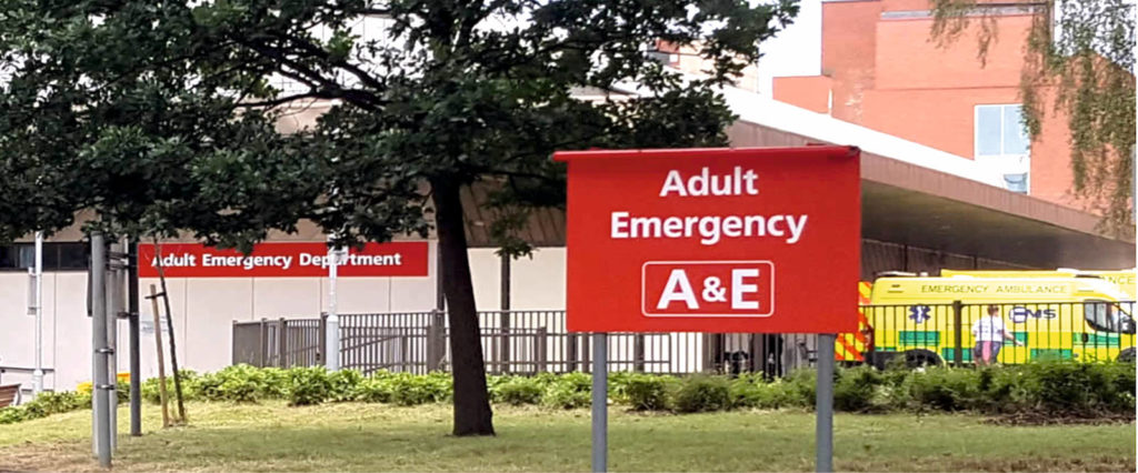 Sign Direct Leicester Signage Solutions Adult Emergency AE Sign