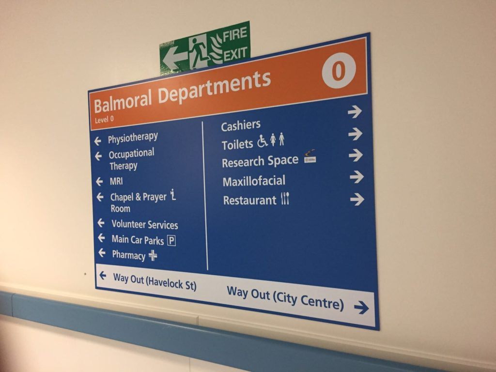 Sign Direct Leicester Signage Solutions NHS Wayfinding Balmoral Departments