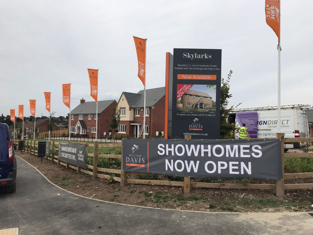 Sign Direct Property Development Banners Signage Solution Leicester