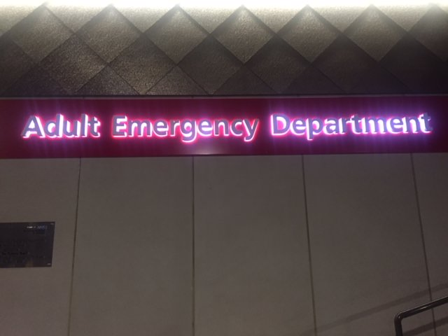 Sign Direct Leicester Signage Solutions Adult Emergency Department Built Up Lettering Progress NHS Illuminated Sign