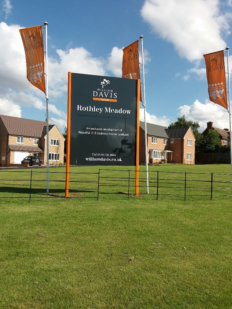 Sign Direct Property Development Flags and Flagpoles Signage Solution Leicester