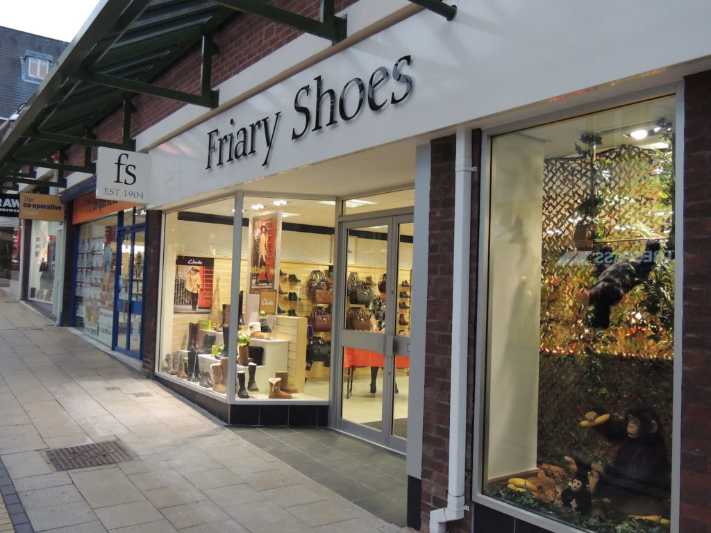 Sign Direct Leicester Point of Sale Retail Signage Solutions Friary Shoes