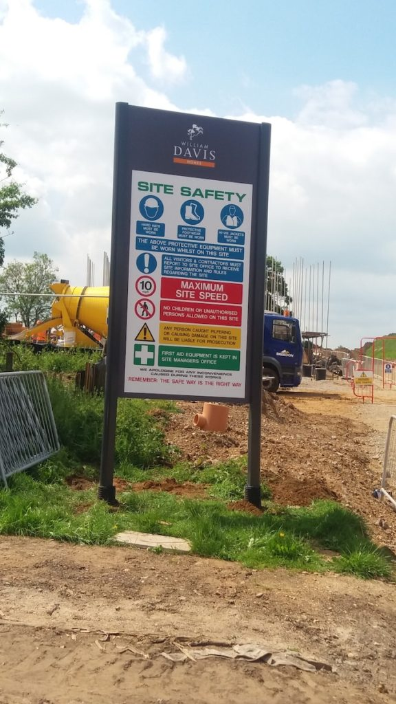 Sign Direct Property Development Health & Safety Signage Solution Leicester
