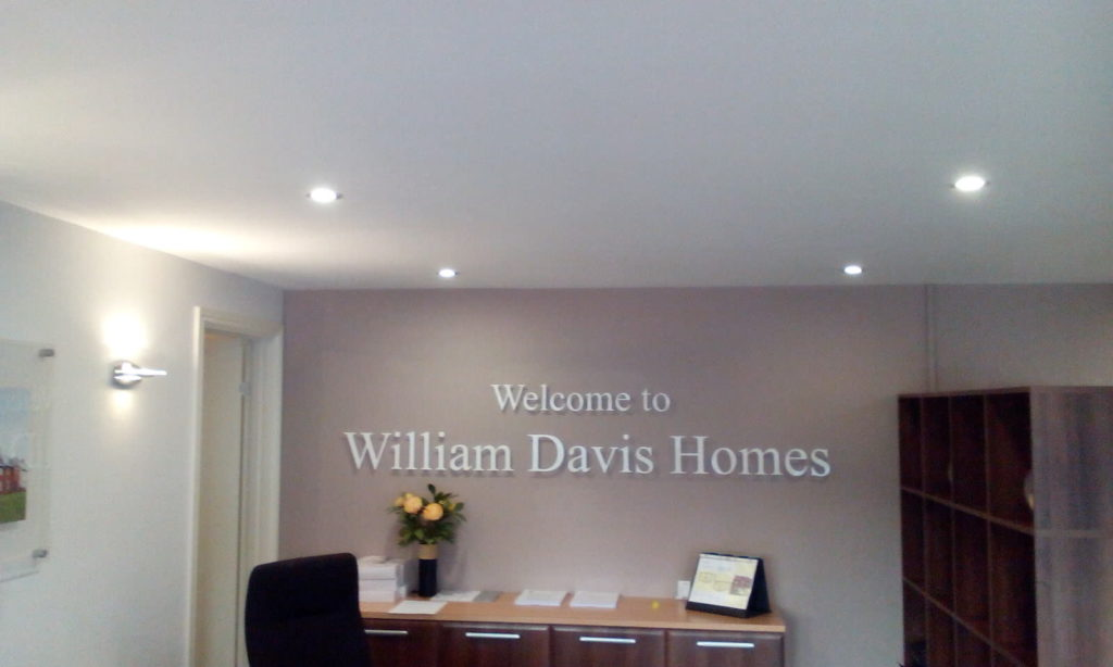 Sign Direct Property Development Internal Point of Sale William Davis Homes Signage Solution Leicester