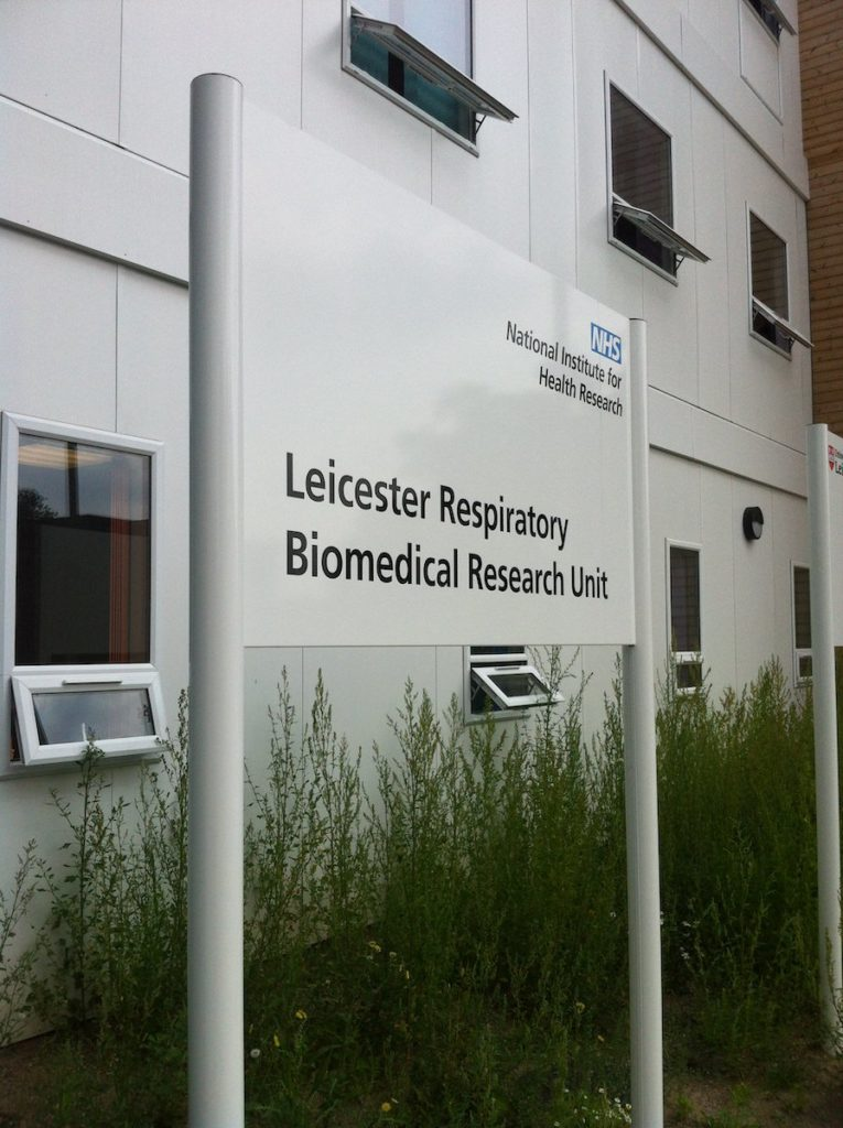 Sign Direct Leicester Signage Solutions Leicester Respiratory Biomedical Research Unit Sign