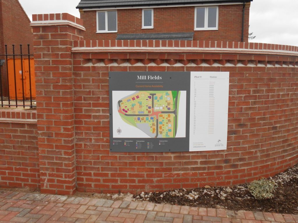 Sign Direct Property Development Map Signage Solution Leicester