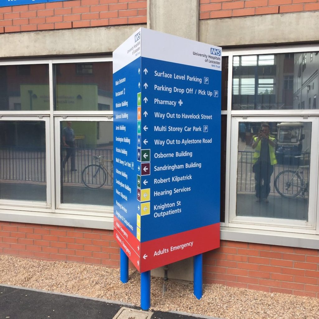 Sign Direct Leicester Signage Solutions NHS Wayfinding