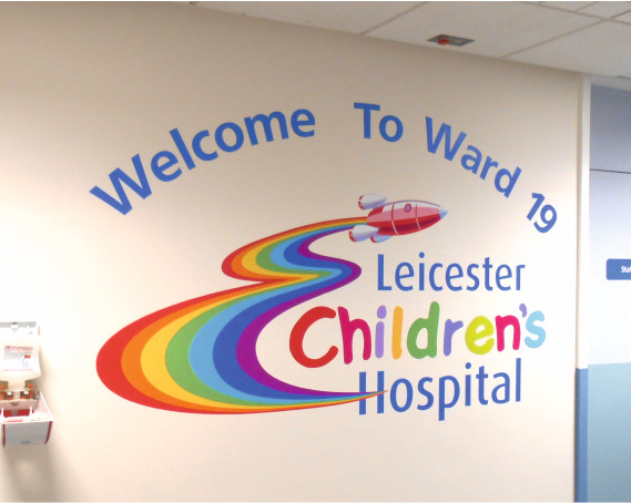 Sign Direct Leicester Signage Solutions NHS Wall Art Leicester Children's Hospital