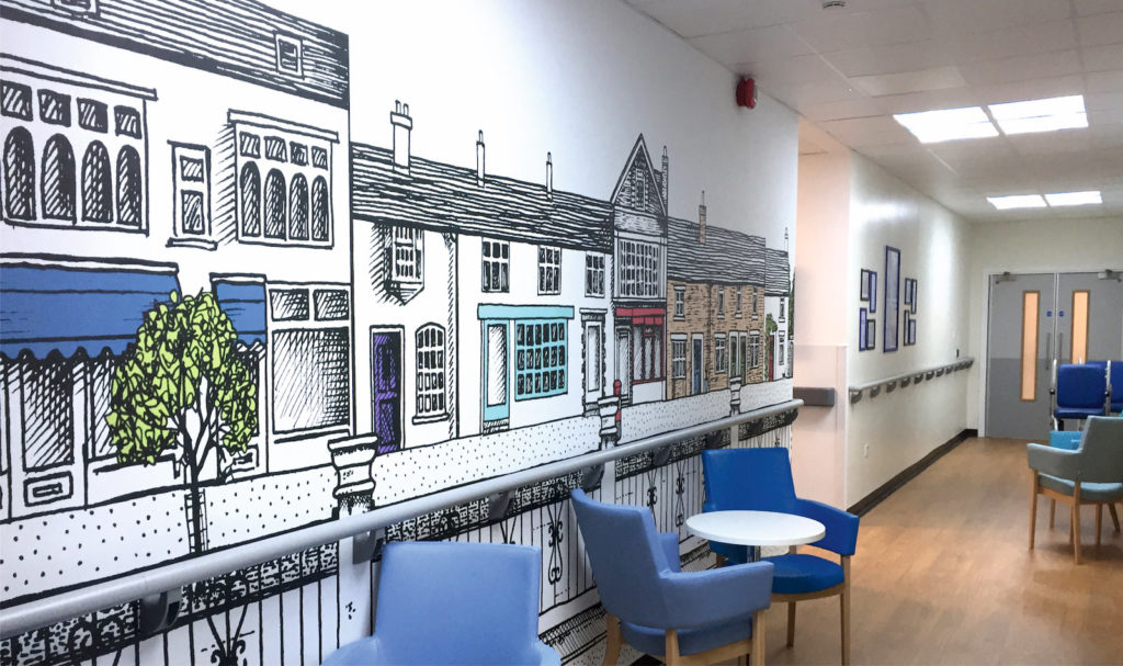 Sign Direct Leicester Signage Solutions NHS Wall Art Royal Infirmary Leicester
