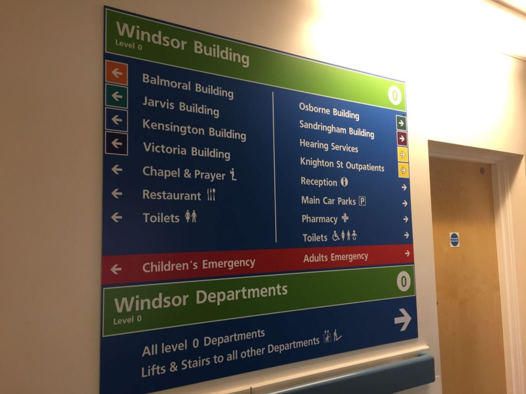 Sign Direct Leicester Signage Solutions NHS Windsor Building Wayfinding